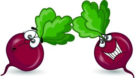 beet juice: Cartoon beet  Illustration