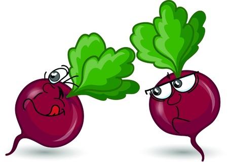beets: Cartoon beet  Illustration