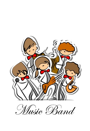 Music band, background  Vector