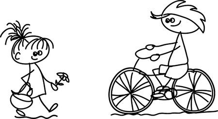 Set of doodle children Stock Vector - 17350270