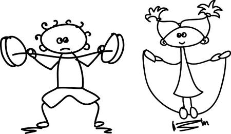 Set of doodle children Stock Vector - 17350268