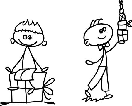 Set of doodle children Stock Vector - 17350272