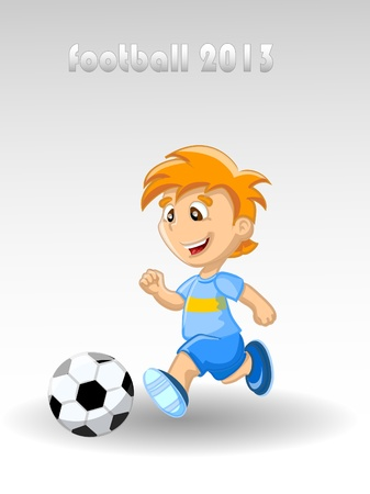 Boy is playing football, background Stock Vector - 17375445