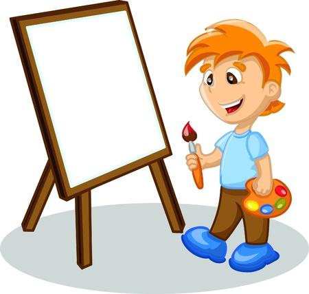 tavolozza pittore: Boy � il disegno