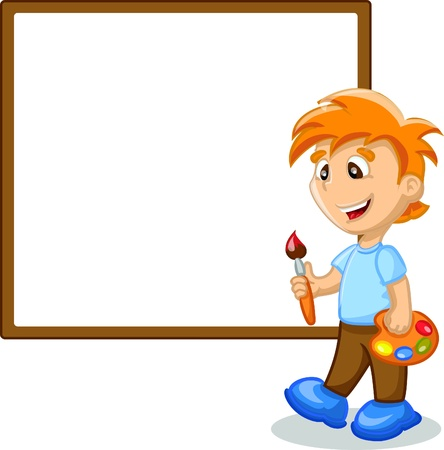 Boy is drawing Stock Vector - 17375455