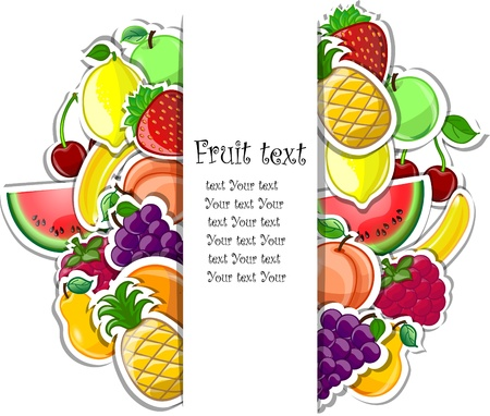 Fruit background, vector illustration  Vector