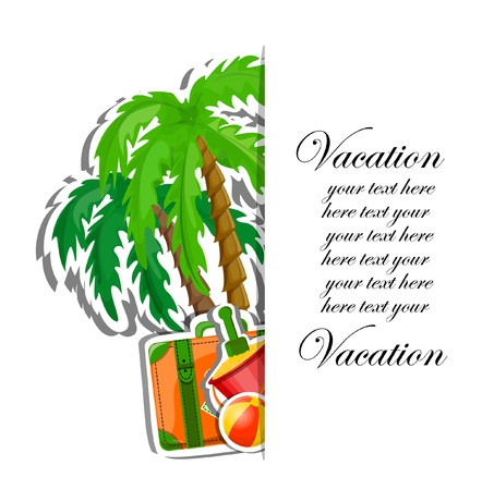 Vacation and travel background, vector illustration Stock Vector - 17416330