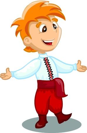 Boy is dancing Stock Vector - 17462907