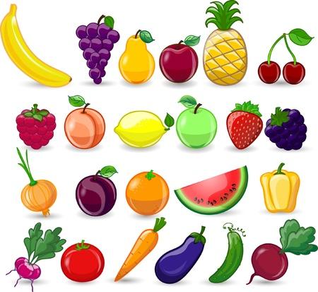 복숭아: 만화 야채와 과일