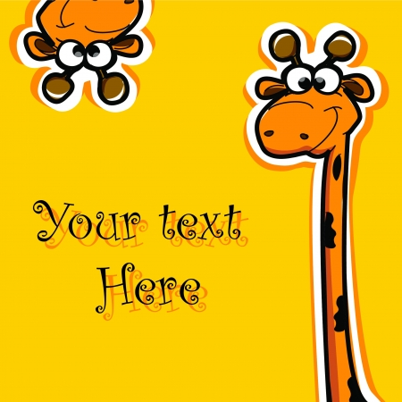 party animal: Greeting card with cartoon animals