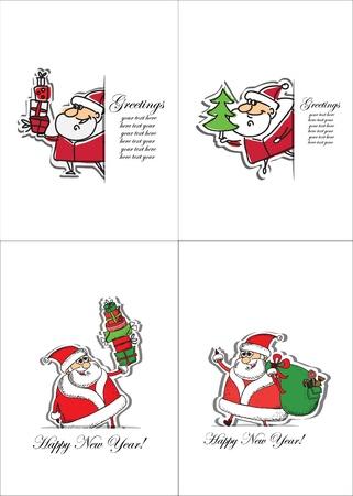 santa claus background: Cartoon Santa Claus,  background  Illustration