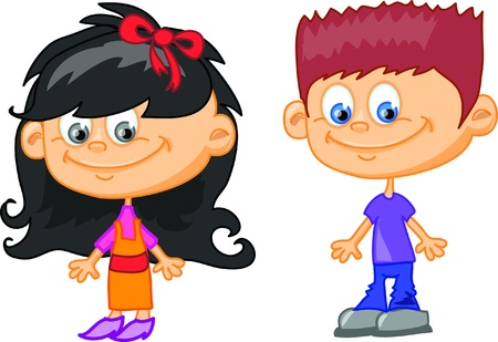 Set of cartoon cute children  Stock Vector - 17514745