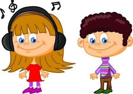 babies and children: Set of cartoon cute children Illustration