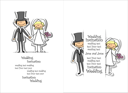 bridegroom: Cartoon wedding picture  Illustration