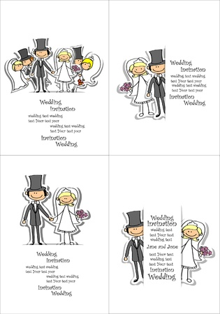 cartoon wedding: Cartoon wedding picture  Illustration