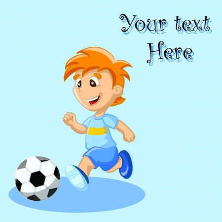 Boy is playing football, background  Stock Vector - 17686312