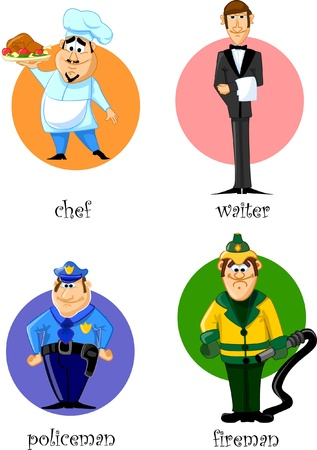 emergency services occupation: Cartoon characters