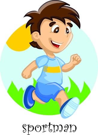 Cute cartoon sportif