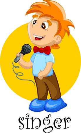 Cartoon character singer