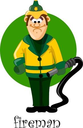 Cartoon characters - fireman Stock Vector - 17989118