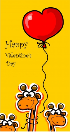 Happy Valentine s day, vector card  Vector