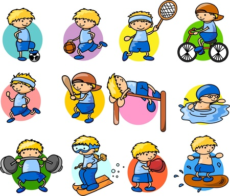 Cartoon sport icon  Stock Vector - 18101843