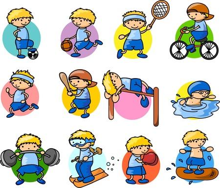 tennis girl: Cartoon sport icon