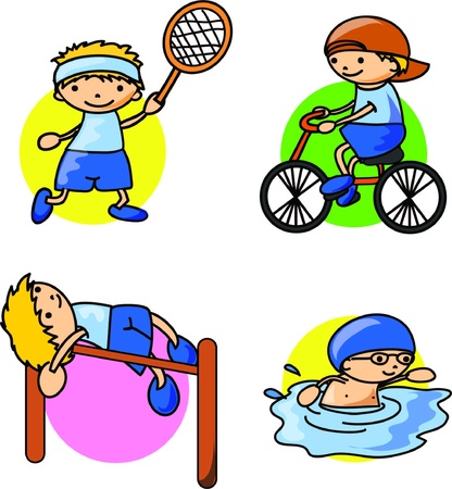 Cartoon sport icon Stock Vector - 18101851