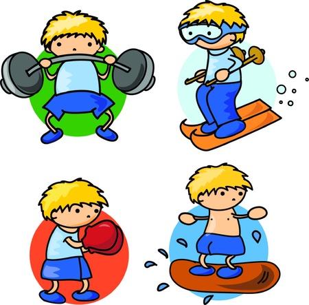 tabla de surf: Cartoon icono del deporte