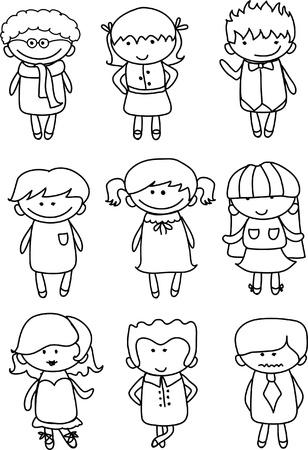 Cute cartoon kids Stock Vector - 18101848