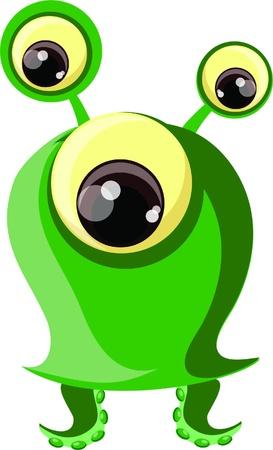 mutant: Cartoon cute monster  Illustration
