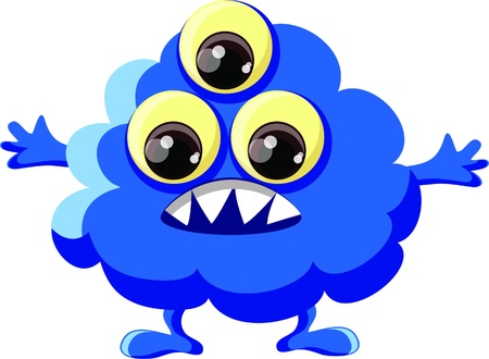 Cartoon cute monster Stock Vector - 18117674