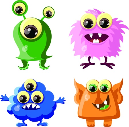 Cartoon cute monsters  Stock Vector - 18129933
