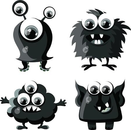 Cartoon cute monsters  Stock Vector - 18129934