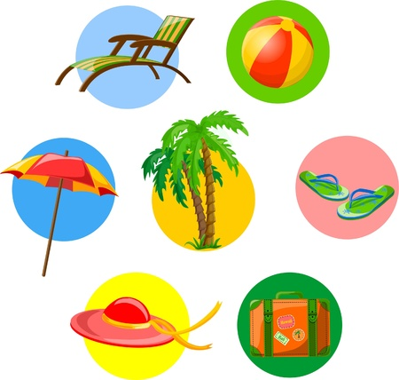 Traveling icons  Stock Vector - 18143979