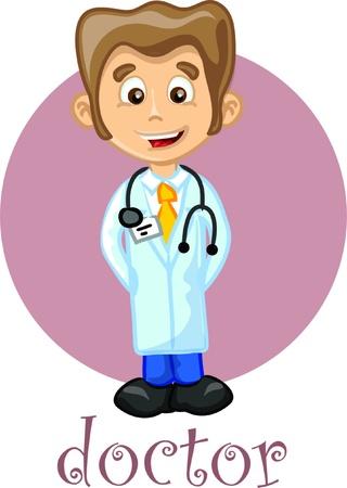 patrolman: Cartoon cute doctor  Illustration