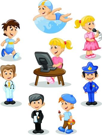medico caricatura: Personajes de dibujos animados Vectores