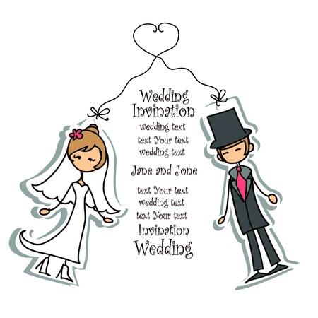 to wed: Cartoon matrimonio foto