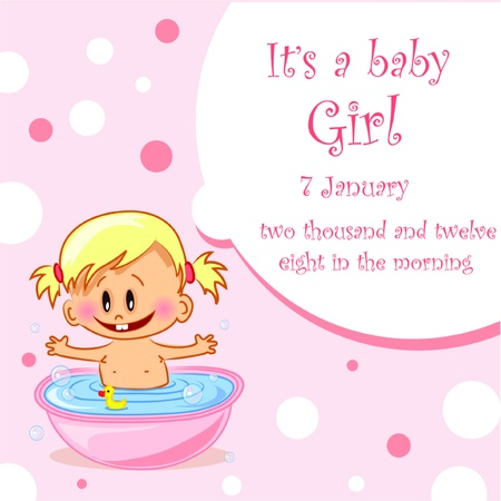 illustration of baby girls  Vector
