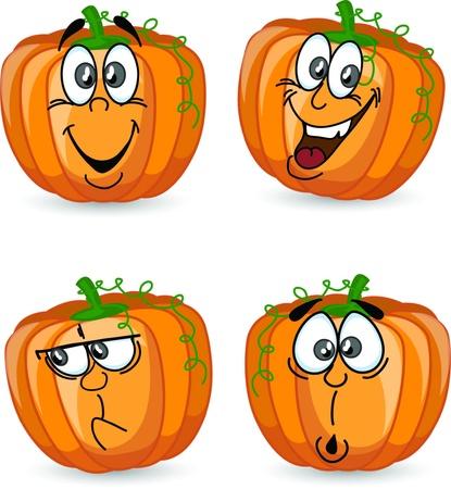calabaza caricatura: Cartoon calabaza Vectores