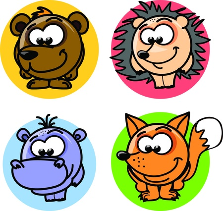 Cartoon vector animals  Stock Vector - 18756986
