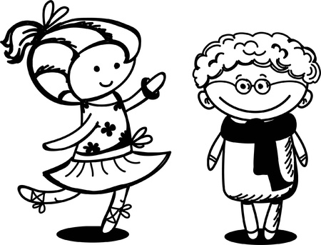 Cute cartoon kids Stock Vector - 19124128