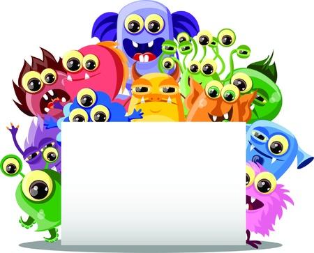 funny monster: Cartoon cute monsters