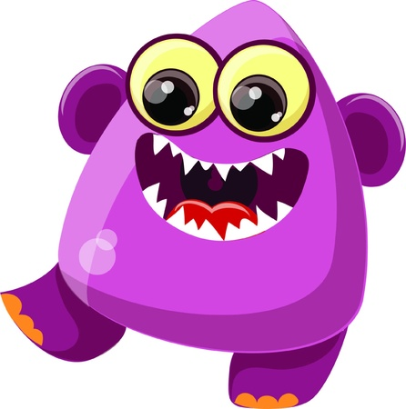 Cartoon cute monster  Stock Vector - 19124136