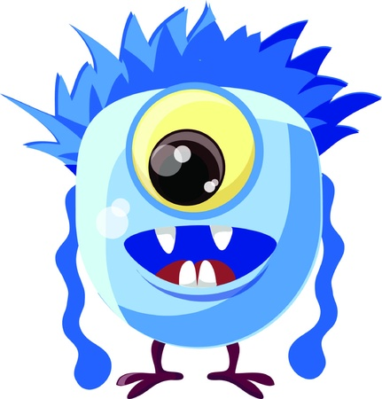 Cartoon cute monster  Stock Vector - 19124134
