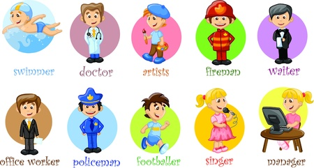 Vector illustration of people different professions  Vector