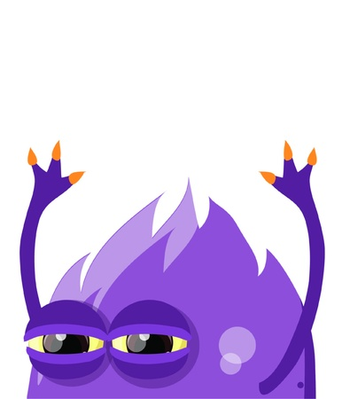 fictitious: Cartoon cute monster on a white background  Illustration