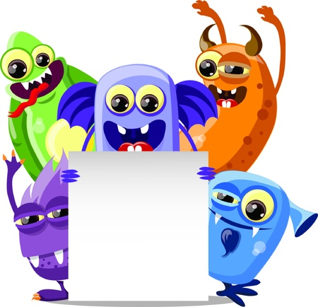 mutant: Cartoon cute monsters