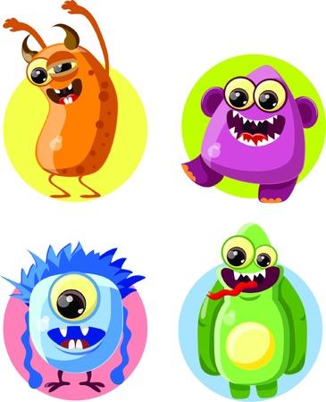 lien: Cartoon cute monsters
