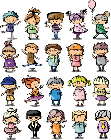 Cute cartoon kids  Stock Vector - 19356793